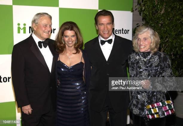Maria Shriver husband Arnold Schwarzenegger flanked by her parents Sargent Shriver Eunice Kennedy Shriver