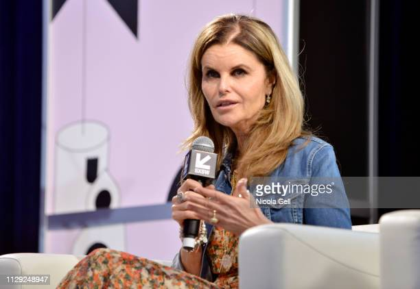 Maria Shriver speaks onstage at Featured Session Maria Shriver Alexandra Socha and Farida Sohrabji with Ashley C Ford during 2019 SXSW Conference and...
