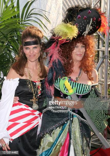 Maria Shriver,Jaime Lee Curtis at the Children Affected by AIDS Foundation 13th Annual Dream Halloween Fundraising Event at Barker Hangar of the...