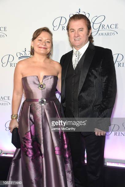 Maria Soldier and Alex Soldier attend the 2018 Princess Grace Awards Gala at Cipriani 25 Broadway on October 16 2018 in New York City