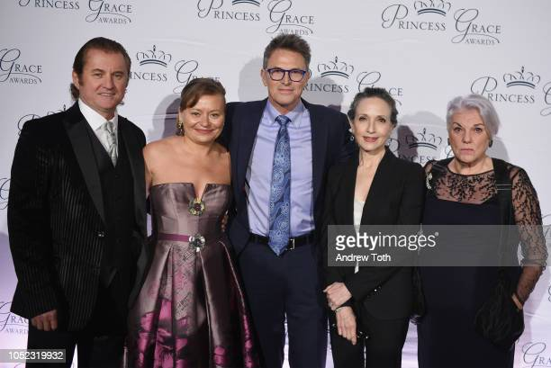 Maria Soldier and Alex Soldier honoree Tim Daly Bebe Neuwirth and Tyne Daly attend the 2018 Princess Grace Awards Gala at Cipriani 25 Broadway on...