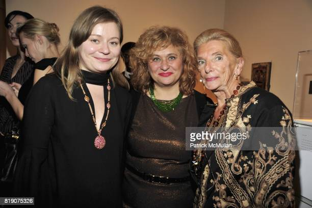 Maria Soldier Galina Soldier and Princess Galitzine attend RUSSIANAMERICAN CULTURAL HERITAGE CENTER's Spring Benefit at Ana Tzarev Gallery on March...