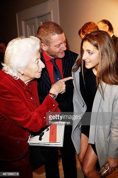Maria Sole Agnelli Lapo Elkann and Anna De Pahlen attends the Cocktail Reception for Anh Duong exhibition Can You See Me and the launch of the book...