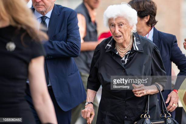 Maria Sole Agnelli sister of Giovanni Agnelli arrives for a memorial service for former Fiat Chrysler Automobiles NV chief executive officer Sergio...