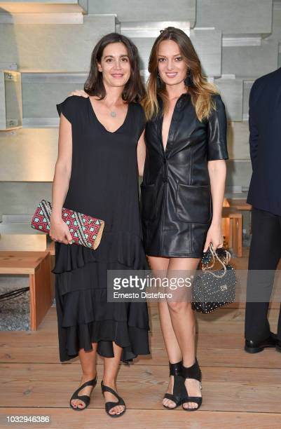 Maria Sole Bravo and Daria Pahhota attend the Westbank And BIG Celebrate The Serpentine Pavilion's Arrival In Toronto With The Arts Community And...
