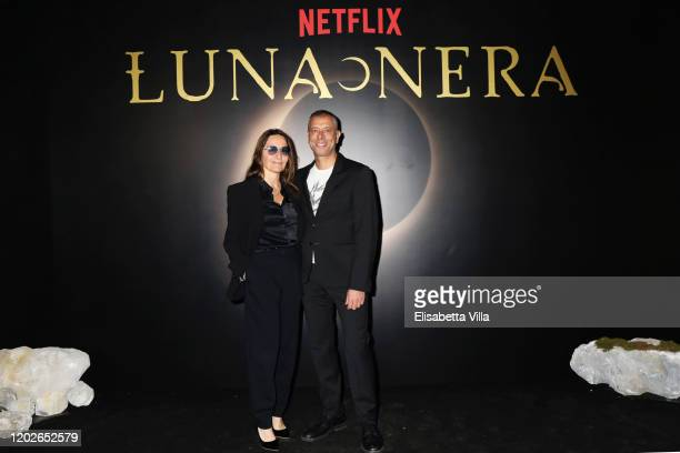 Maria Sole Tognazzi and Ivan Cotroneo attend the Netflix's Luna Nera Premiere photocall on January 28 2020 at Horti Sallustiani in Rome Italy