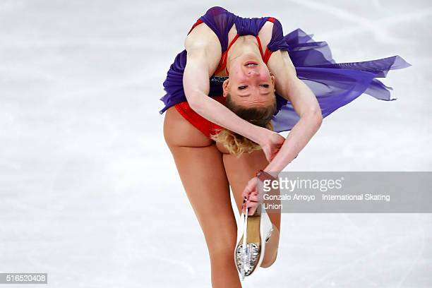 Maria Sotskova from Russia skates during the Ladie's Free Skating program of the ISU World Junior Figure Skating Championships 2016 at The Fonix...