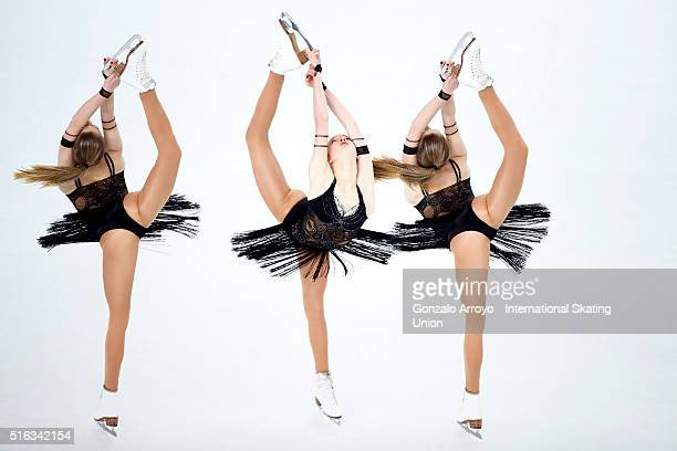 Maria Sotskova from Russia skates during the Ladie's short program of the ISU World Junior Figure Skating Championships 2016 at The Fonix Arenaon...