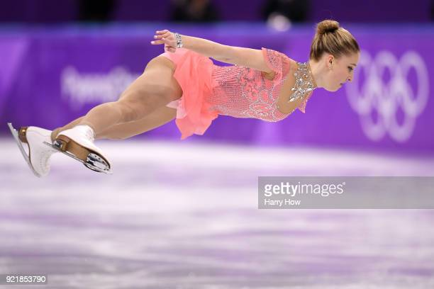 Maria Sotskova of Olympic Athlete from Russia competes during the Ladies Single Skating Short Program on day twelve of the PyeongChang 2018 Winter...