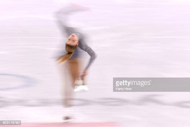 Maria Sotskova of Olympic Athlete from Russia competes during the Ladies Single Skating Free Skating on day fourteen of the PyeongChang 2018 Winter...