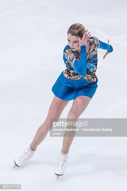 Maria Sotskova of Russia competes during Ladies Short Program on day one of the Trophee de France ISU Grand Prix of Figure Skating at Accorhotels...