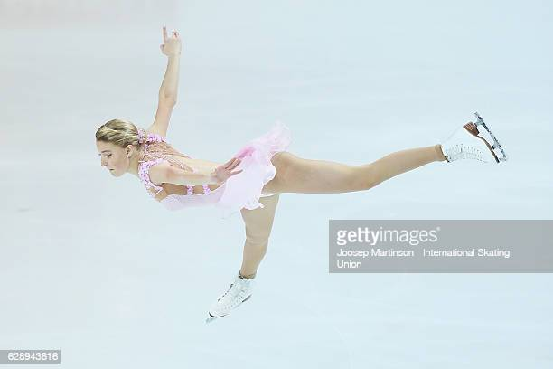 Maria Sotskova of Russia competes during Senior Ladies Free Skating on day three of the ISU Junior and Senior Grand Prix of Figure Skating Final at...