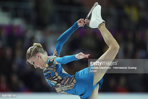 Maria Sotskova of Russia competes during Senior Ladies Short Program on day two of the ISU Junior and Senior Grand Prix of Figure Skating Final at...