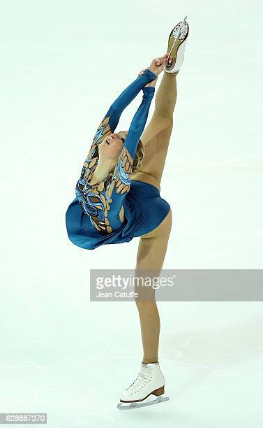 Maria Sotskova of Russia competes during Senior Ladies Short Program on day two of the ISU Grand Prix of Figure Skating 2016 at Palais Omnisports...