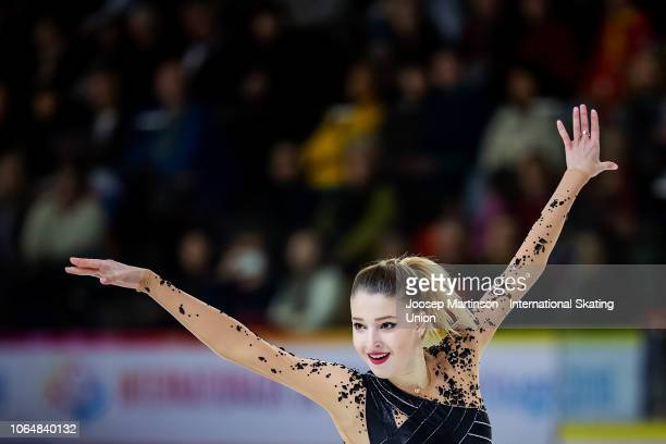 Maria Sotskova of Russia competes in the Ladies Free Skating during day 2 of the ISU Grand Prix of Figure Skating Internationaux de France at Polesud...
