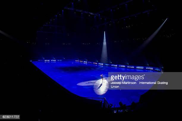 Maria Sotskova of Russia performs during Gala Exhibition on day three of the Trophee de France ISU Grand Prix of Figure Skating at Accorhotels Arena...