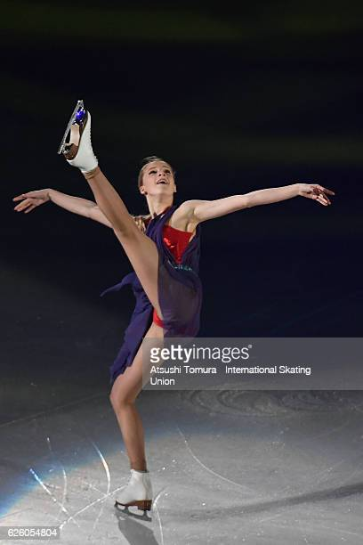 Maria Sotskova of Russia performs in the gala exhibition during the ISU Grand Prix of Figure Skating NHK Trophy on November 27 2016 in Sapporo Japan