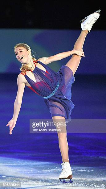 Maria Sotskova of Russia performs in the gala exhibition during the ISU Grand Prix of Figure Skating NHK Trophy at Makomanai Ice Arena on November 27...