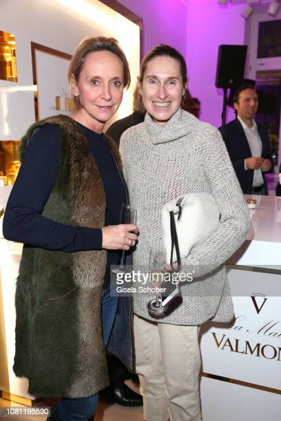Maria Sottor Managing Director Nicki's and Annette Weber during the La Maison Valmont opening on January 11 2019 in Munich Germany