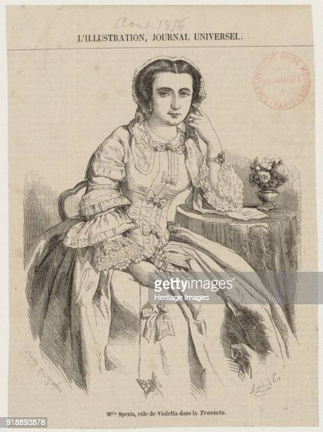 Maria Spezia as Violetta in Opera La Traviata by Giuseppe Verdi 1856 Found in the collection of Bibliothèque Nationale de France