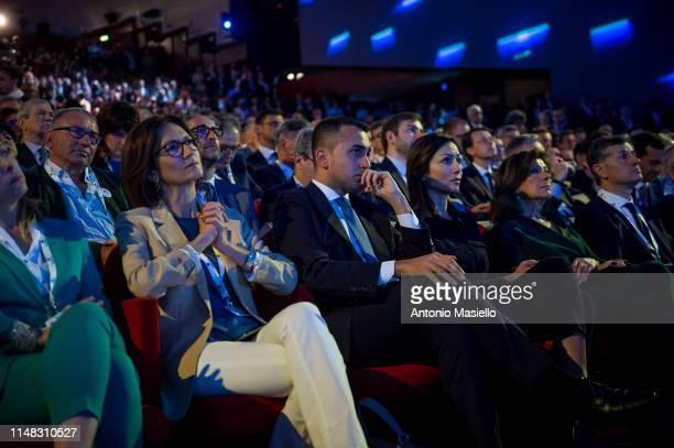 Maria Stella Gelmini Italian Labor Minister and deputy Prime Minister Luigi Di Maio Mara Carfagna and Italian Senate President Maria Elisabetta...