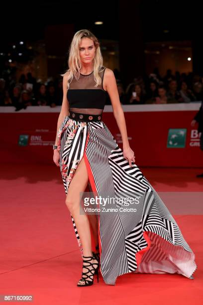 Maria Stepanova walks a red carpet for 'Cinque' during the 12th Rome Film Fest at Auditorium Parco Della Musica on October 27 2017 in Rome Italy