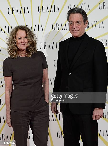 Maria Suelves and Claudio Montes attend Grazia Magazine launch party at the Circo Prize Theater on February 12 2013 in Madrid Spain