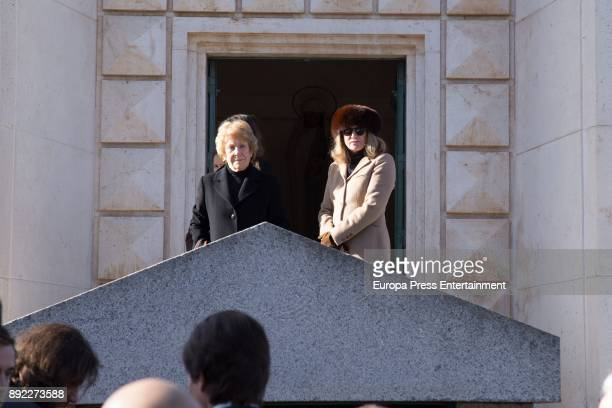 Maria Suelves attends Funeral Service For Countess of Romanones on December 13 2017 in Guadalajara Spain