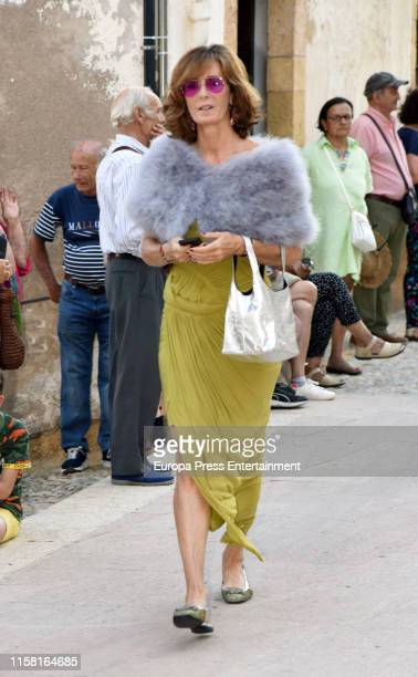 Maria Suelves attends Juan José Suelves wedding on June 22 2019 in Tarragona Spain June 22 2019 in Tarragona Spain