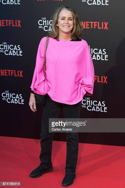 Maria Suelves attends 'Las Chicas Del Cable' premiere at the Callao cinema on April 27 2017 in Madrid Spain