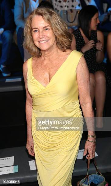 Maria Suelves attends the Roberto Torretta fashion show at Mercedes Benz Fashion Week Madrid Spring/ Summer 2019 on July 9 2018 in Madrid Spain on...