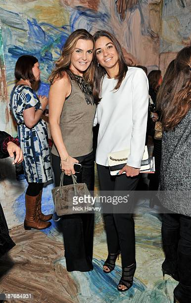 Maria Sukkar and guest attend the book launch of Art Studio America at ICA on November 11, 2013 in London, England.