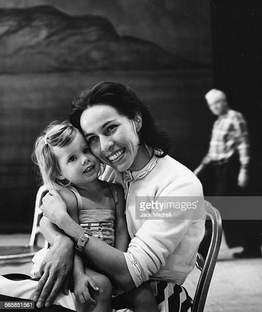 Maria Tallchief America's first major prima ballerina and the first Native American to hold the rank photographed in 1961 with her daughter Elise...
