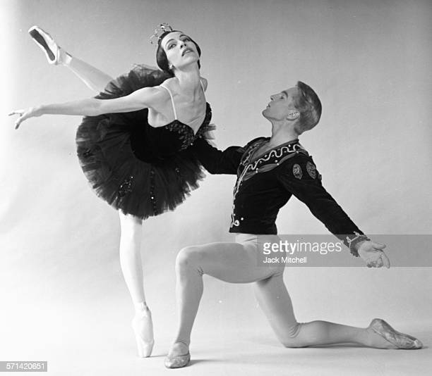 Maria Tallchief and Erik Bruhn in Black Swan photographed at Jacob's Pillow in 1961