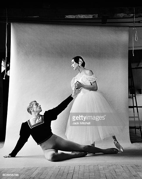 Maria Tallchief and Erik Bruhn in Giselle photographed at Jacob's Pillow 1961