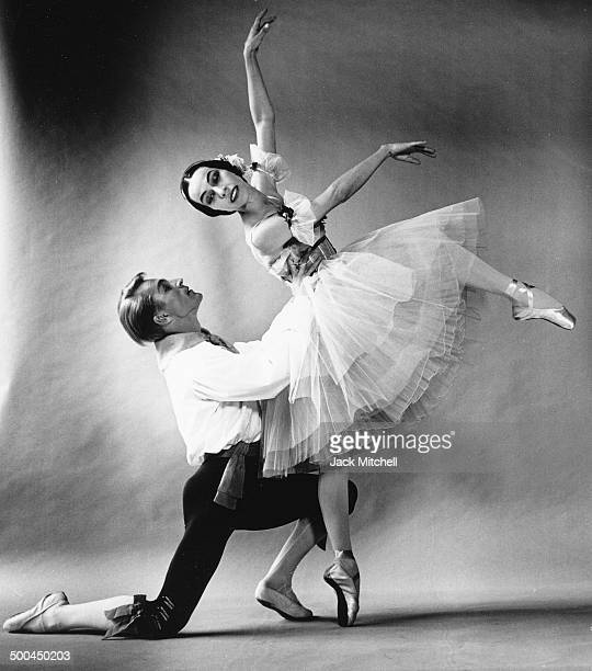 Maria Tallchief and Erik Bruhn performing 'Flower Festival in Genzano' in 1961