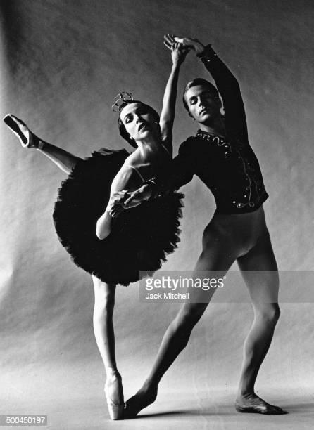 Maria Tallchief and Erik Bruhn performing 'Swan Lake' in December 1960