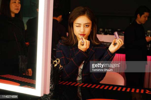 Maria Tani attends Dior Addict Stellar Shine launch at Hotel Koe on April 2 2019 in Tokyo Japan