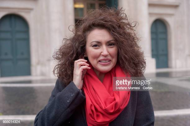 Maria Teresa Bellucci deputy of Fratelli d'Italia in front Parlament on March 20 2018 in Rome Italy The new members of the 18th legislature carried...