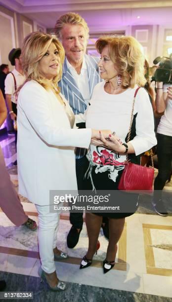 Maria Teresa Campos adn Bigote Arrocet attend the presentation of the autobiography book 'Frente Al Espejo' by Terelu Campos at Hotel Villamagna on...