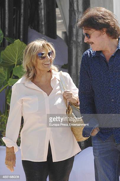 Maria Teresa Campos and Bigote Arrocet are seen on August 20 2014 in Marbella Spain