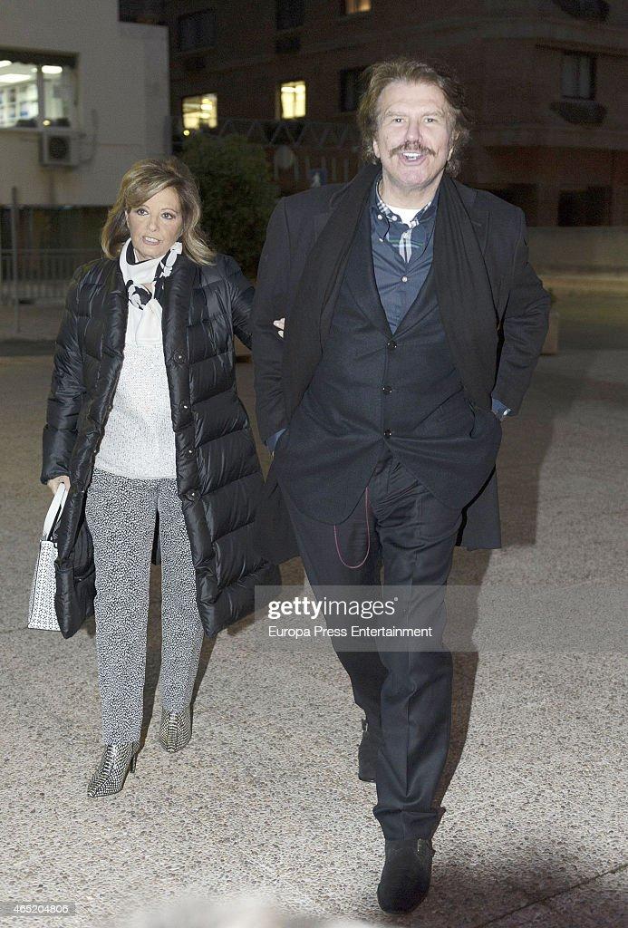 Maria Teresa Campos and Bigote Arrocet Sighting In Madrid - February 11, 2015