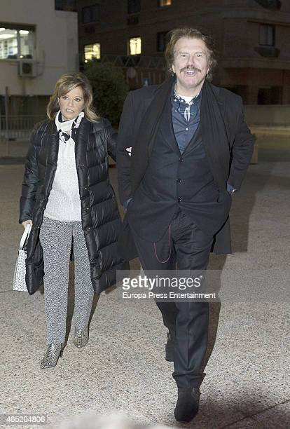 Maria Teresa Campos and Bigote Arrocet are seen on February 11 2015 in Madrid Spa