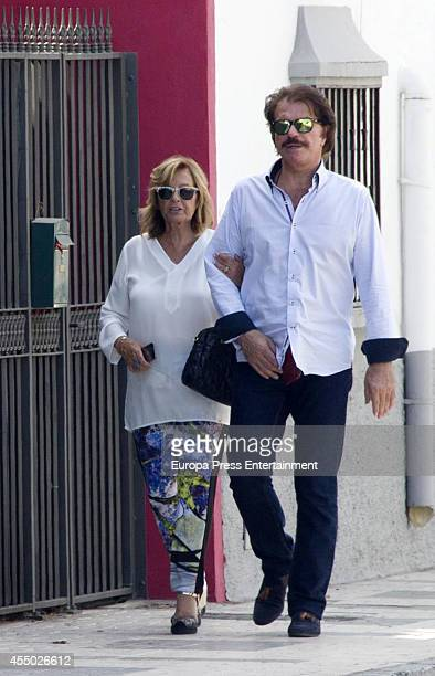 Maria Teresa Campos and Bigote Arrocet are seen on September 8 2014 in Malaga Spain