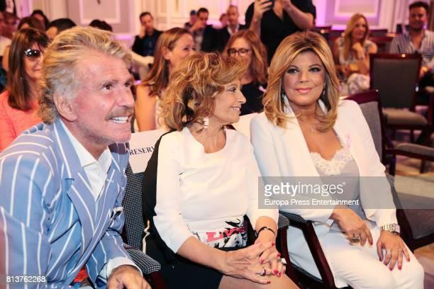 Maria Teresa Campos and Bigote Arrocet attend the presentation of the autobiography book 'Frente Al Espejo' by Terelu Campos at Hotel Villamagna on...