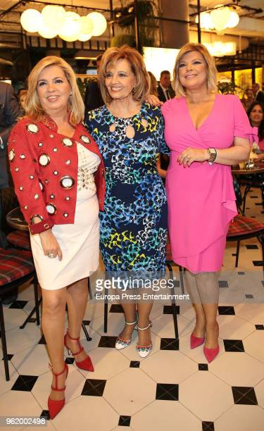 Maria Teresa Campos and Carmen Borrego attend the presentation of the launching of Terelu Campos's first jewellry collection 'TRLU' on May 23 2018 in...