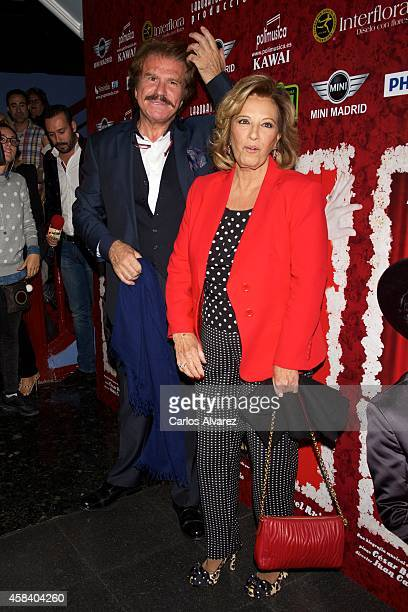 Maria Teresa Campos and Edmundo Arrocet attend Miguel de Molina al Desnudo premiere at the Santa Isabel Theater on November 4 2014 in Madrid Spain