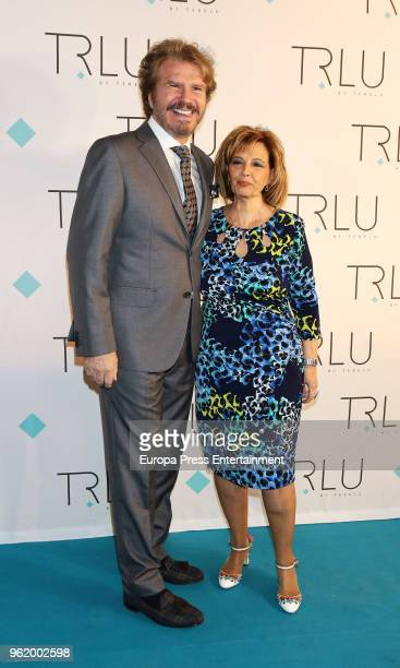 Maria Teresa Campos and Edmundo Arrocet attend the presentation of the launching of Terelu Campos's first jewellry collection 'TRLU' on May 23 2018...