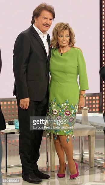 Maria Teresa Campos and Edmungo Arrocet 'Bigote' attend the celebration of the seven season of 'Que Tiempo Tan Feliz' on September 24 2016 in Madrid...
