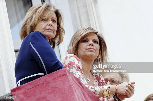 Maria Teresa Campos and her daughter Terelu Campos attend Easter Procession on April 1 2012 in Malaga Spain